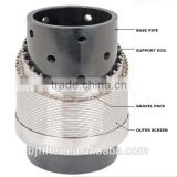 pre pack water well casing screen stainless steel Johnson well screen/metal round-hole casing pipe