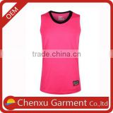wholesale plain rose red tank top muscle tee for women basketball uniforms sleeveless tops women sublimation blank sport shirts