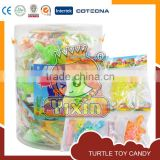 Turtle toy candy with tattoo and jelly