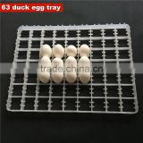 Incubation Equipment Parts White Plastic 63 Duck Egg Tray Is Easy To Use Very Good Quality