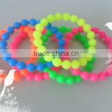 Free packing Fancy Delicate Silicone Beaded bracelets