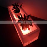 Smart Cheap Waterproof Outdoor Indoor glowing LED Flower Pot LED Lighting Planter LED flower Vase