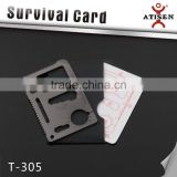 New Multi-function Outdoor Knife Tools Survival Credit Card Portable Wallet Knife 11 In 1