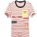 Men Stripe T-shirts Round Neck Casual Summer Short Sleeve T shirts Brand High Quality Bamboo Cotton