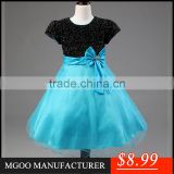 MGOO Hot Sale Black Girl Flowers For Muslim Kids Infant Princess Flowers Girl Pageant Dress MGT027-3