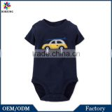 OEM Factory 2015 Summer Fashion Surfer Car Baby Bodysuit Short Sleeve Black Baby Clothes