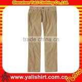 Wholesale comfortable low price bulk soft plain twill casual men latest design cotton pants