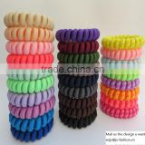 Factory Supply Spiral Elastic Hair Bands Baby Girls Ponytail Stretchy Elastic Bobbles Band