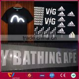 new fashion customized t-shirt reflective iron on label