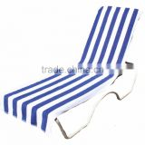 lounge chair cover cabana stripe blue red beach towel
