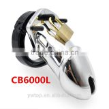 Plastic Male Chastity Device Cage CB6000 CB6000s Silver Plated Cock Ring Adjustable Penis Ring