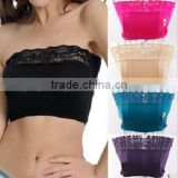 New Fashion Sexy Lace Tube Top Lingerie Bandeau Strapless Tube Top Wrapped Chest Bra Ladies Women Sexy seamless underwear