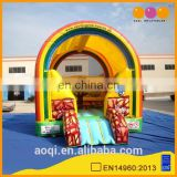 AOQI new design rainbow model colorful inflatable bouncer for kids for sale