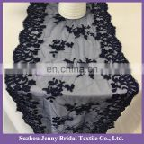 TR007#Navy blue lace table runners for weddings hand embroidered table runner felt table runner
