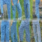 Lot Of 5 pcs Women Trouser Pant Block Print Cotton Yoga Wear pants indigo blue