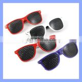 Child Kids Red White Purple Frame Fashion Pinhole Corrective Eye Fatigue Relief Glasses