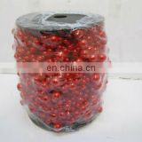 Red Fishing Line Pearls Chain Pear Bead Garland Hanging For Wedding Supplies