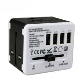CMYK Logo 4usb Port Travel Adapter full printing power adapter universal