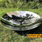 Modern Abstract Stainless Steel Sculpture Stainless Steel Sculpture Metal Surface Electroplating