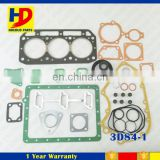 Excavator Spare Parts 3D84-1 Cylinder Head Gasket Diesel Engine Full Gasket Kit