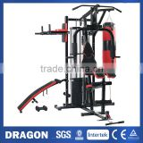 100kg MULTI STATION HOME GYM HG480 EXERCISE EQUIPMENT with BOXING PUNCHING BAG DUMBBELLS                                                                         Quality Choice