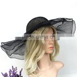 Custom Design Women Faschion Wide Brim Sinamay Hat Wholesale                                                                         Quality Choice