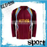 100%polyester custom made professional factory price long sleeve cricket jersey shirt color sublimation cricket shirt