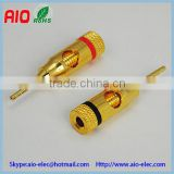 banana plug male speaker connector 2mm,test lead metal clamp