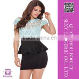 Unique design wholesale sexy clubwear mini dress printing package hip sexy lace skirt