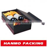 accept custom order and beverage industrial use folding paper flat pack wine box wholesale