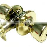 Polished Brass Tubular Entry Door Lock