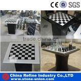 Diffrent modern type granite and marble stone chess table, chess coffee tables                                                                                                         Supplier's Choice