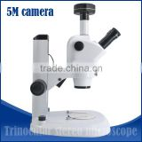 0.8X-5X trinocular zoom stereo microscope for industry