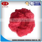 bright red recycled polyester staple fiber discontinuous
