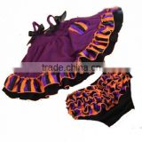 wholesale Halloween girls design bloomer set kids top set