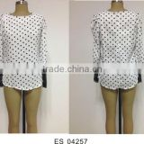 Ladies chiffon long sleeve Korean style blouse