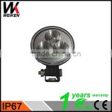 WEIKEN 24 hour work light 9W LED Driving Light Round Spot LED Work Light for 4x4 Off-road SUV