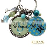 buy direct from china manufacturer fashion jewelry round metal keychain