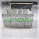 Professional factory own design hesco barrier/pvc coated hesco barrier/welded gabion box hesco barrier