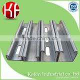 Hanging pipe system strut slotted galvanized plain type u beam metal bar gi weight mild steel channel square tube