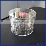 Wholesale Round rose box Royal rose display packing BOX clear acrylic box flower storage box