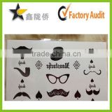 customized high qualit 3d tattoo sticker,face tattoo sticker,skin safe temporary tattoo sticker