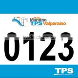 Customized Tyvek race Numbers, Marathon Bib Number for athletes OEM race number