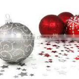2016 new design plastic hand-painted christmas ball                                                                         Quality Choice