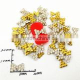 2015 hot golden alloy rhinestone rosette 3d nail art product nail charms