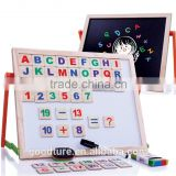 Blackboard And White Board Magnetic Board Both Sides Usable Learning Or Drawing Board With Standing Rack