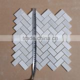 25x48mm herringbone white mosaic tile for bathing room and kitchen