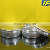 120g/ 120ml/ 4oz Silver Seamless Aluminum Salve tin with screw Lid