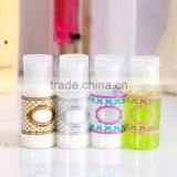 2015 20ml 2pcs/set flip cap/spray/screw cap/press cap PET refillable lotion bottle shampoo bottle aspray bottle water mist