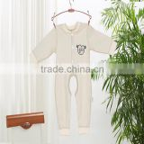 100% organic cotton baby romper soft pure autumn winter infant romper garment suit